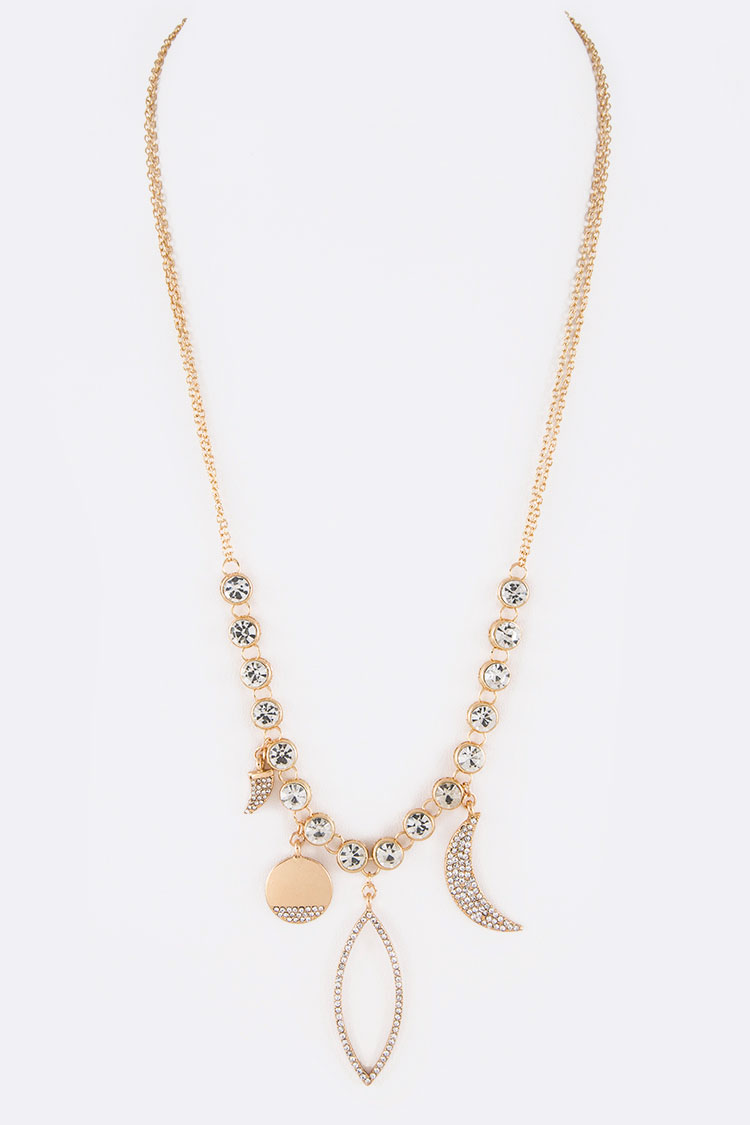 Crystal Mix Charm Iconic Necklace