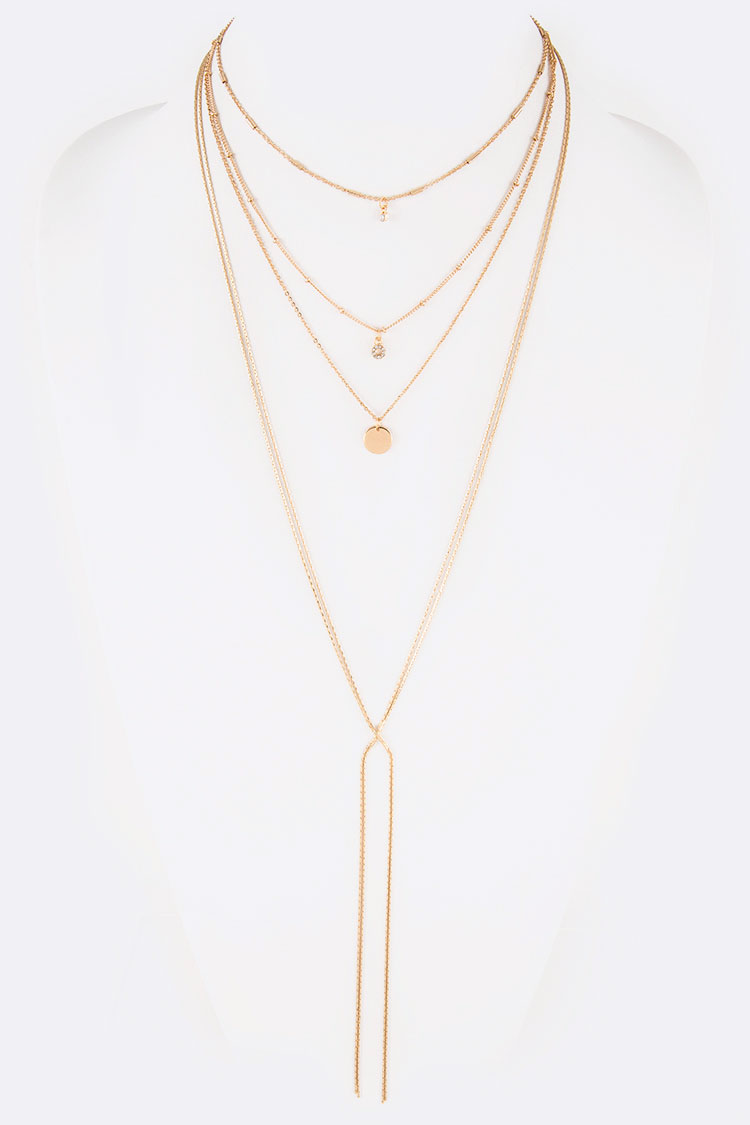Mix Drops Layered Necklace