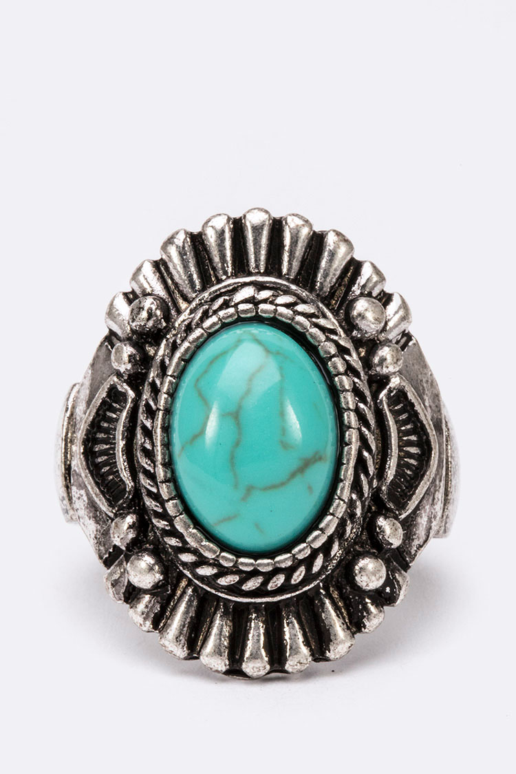Turquoise Iconic Stretch Ring
