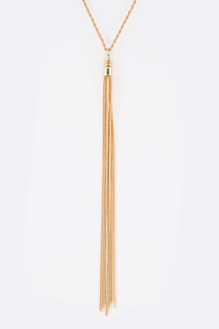 Chain Tassel Iconic Pendant Necklace
