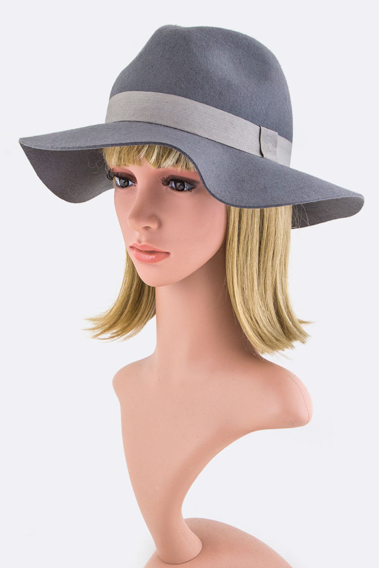 Grosgrain Floppy Wool Felt Hat