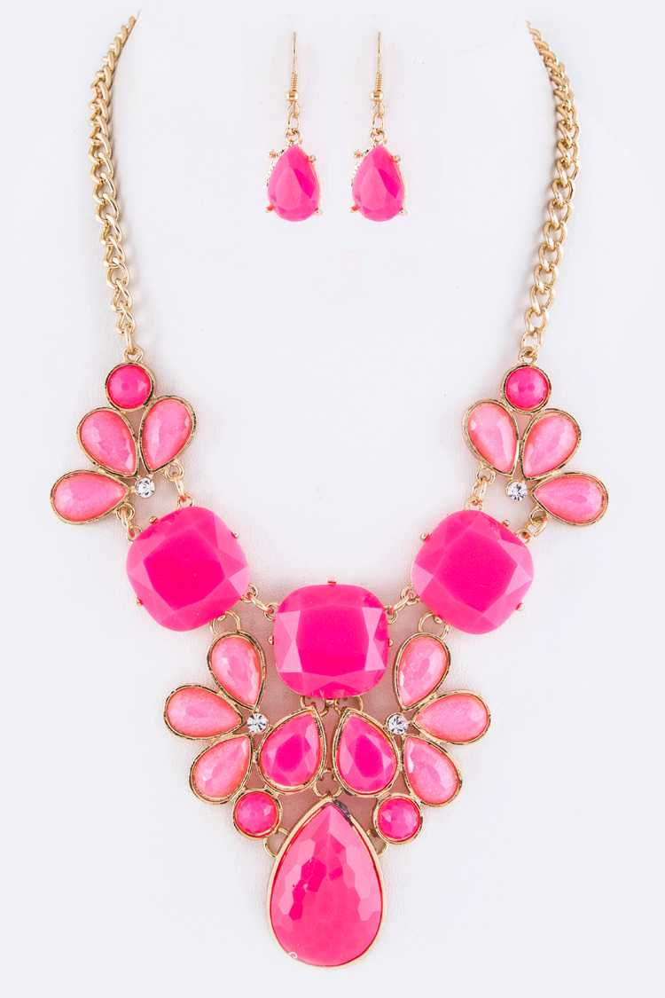 Festival Statement Necklace Set