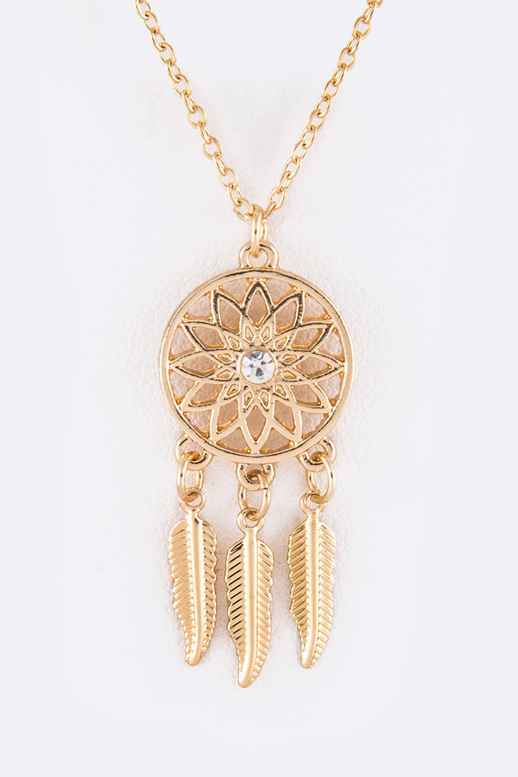 Dream Catcher Iconic Pendant Necklace