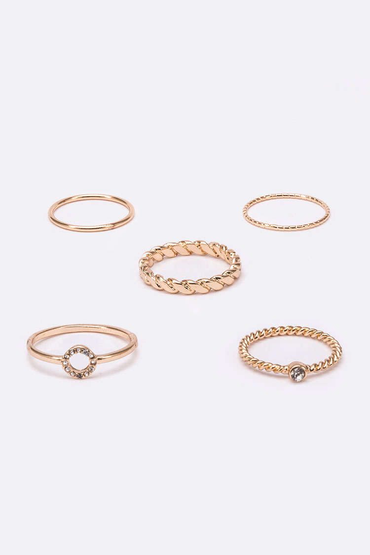 Textured Iconic Ring Set