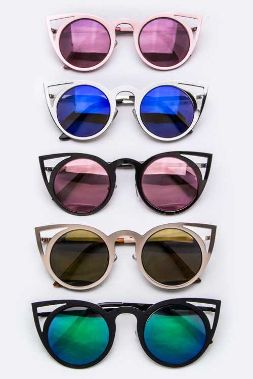 Iconic Cat Eye Frame Round Sunglasses