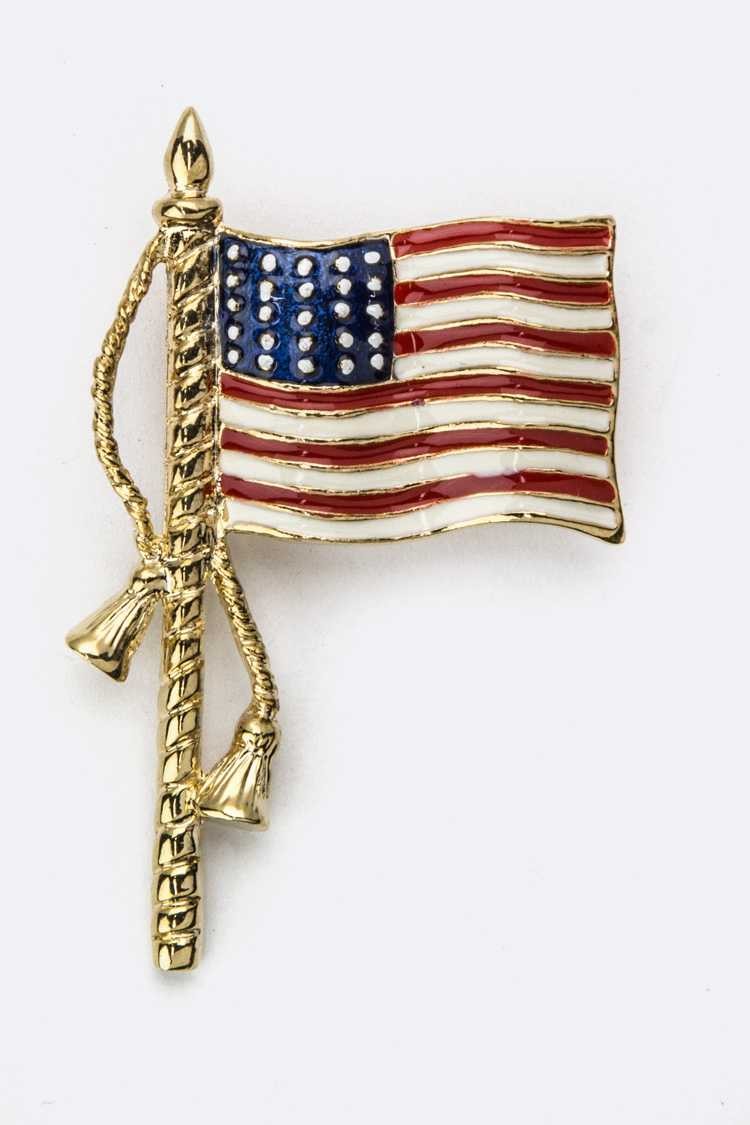 US Flag Brooch