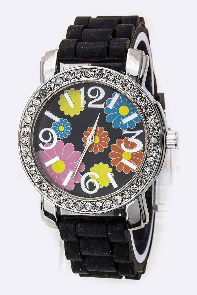 Spring Flowers Silicon Watch