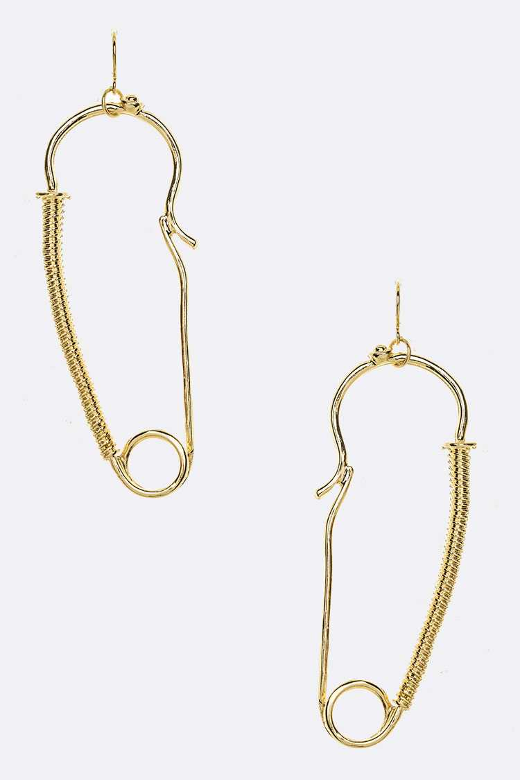 Iconic Safety Pin Drop Wired Earrings