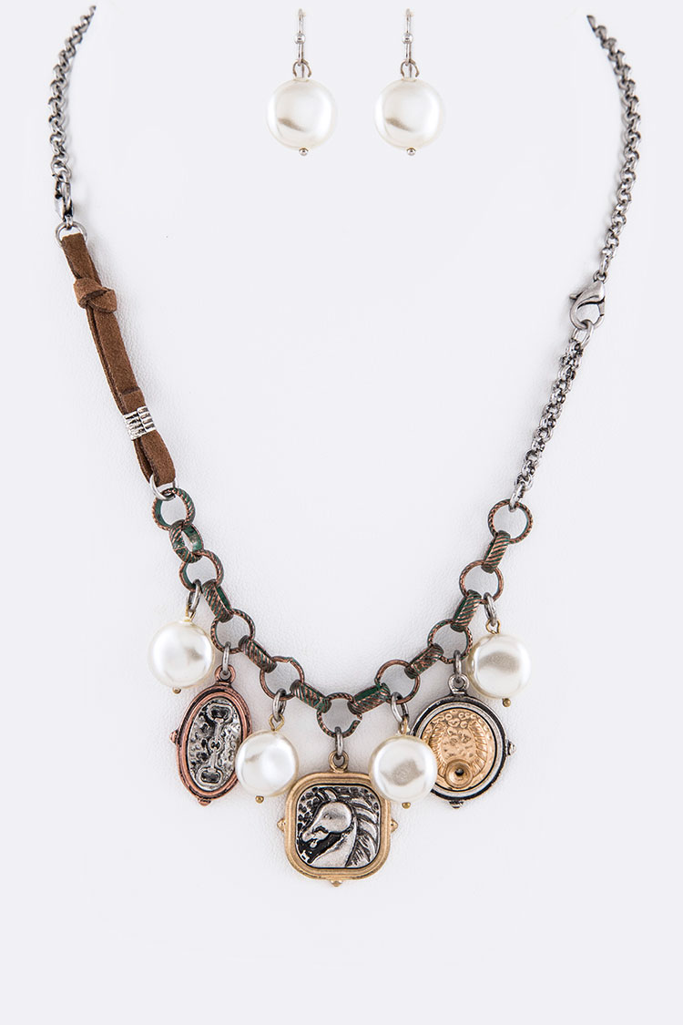 Western Mix Charm Convertible Necklace Set
