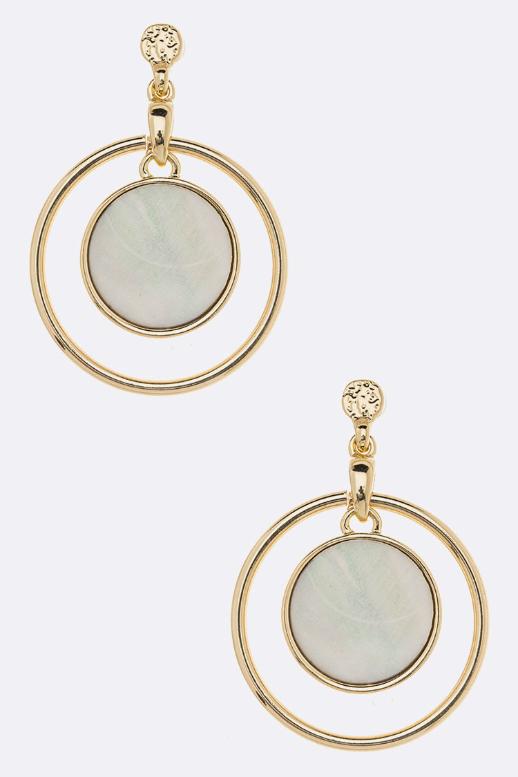 MOP Disk Earrings