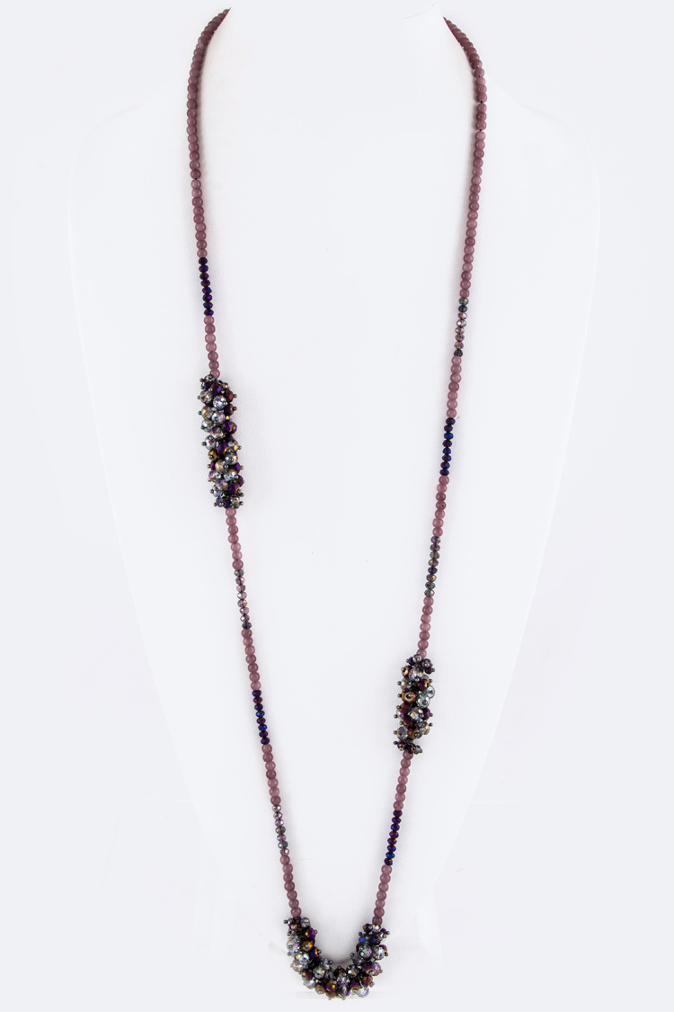 Mix Beads Long Necklace
