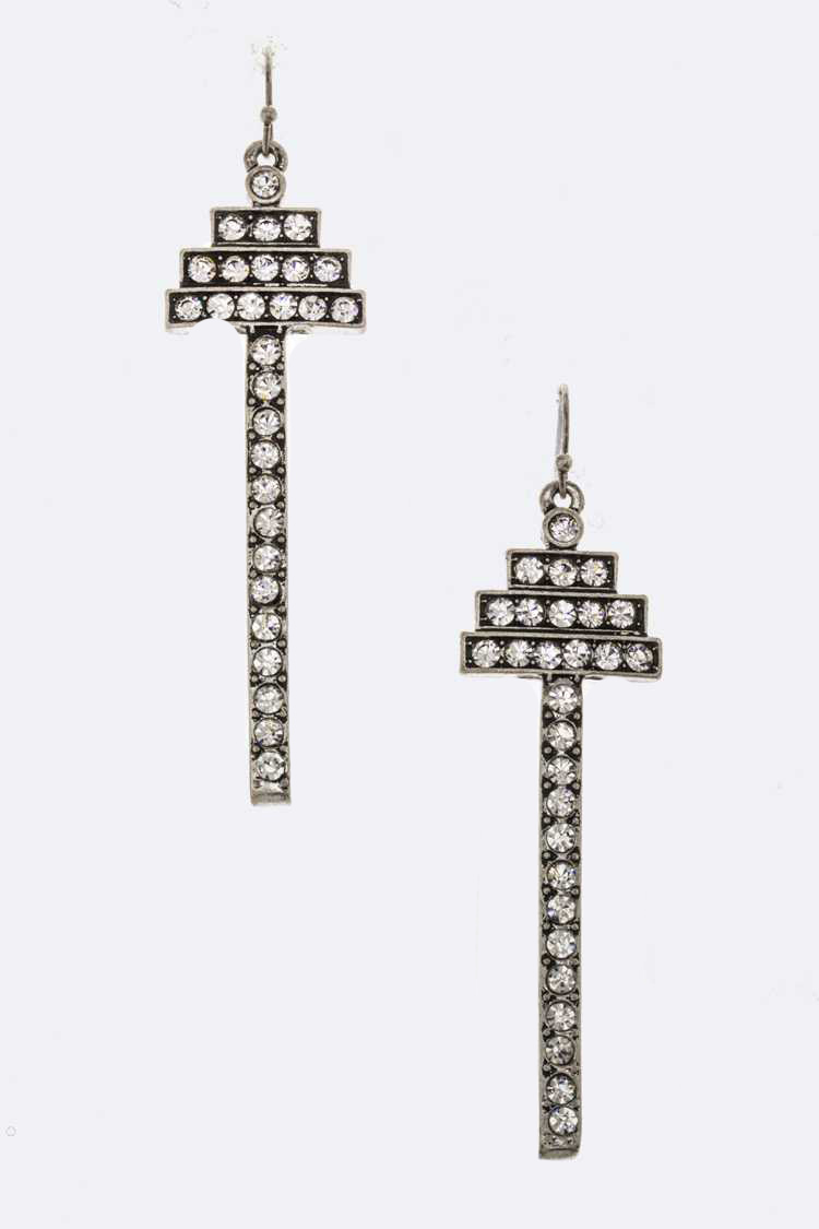 Iconic Crystal Bar Earrings