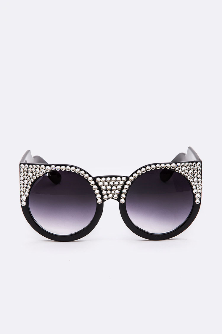 Iconic Cat Eye Austrian Crystal Sunglasses