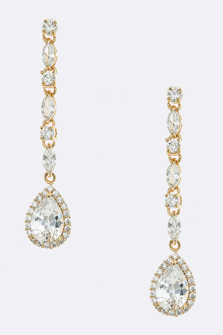 CZ Teardrop Iconic Earrings