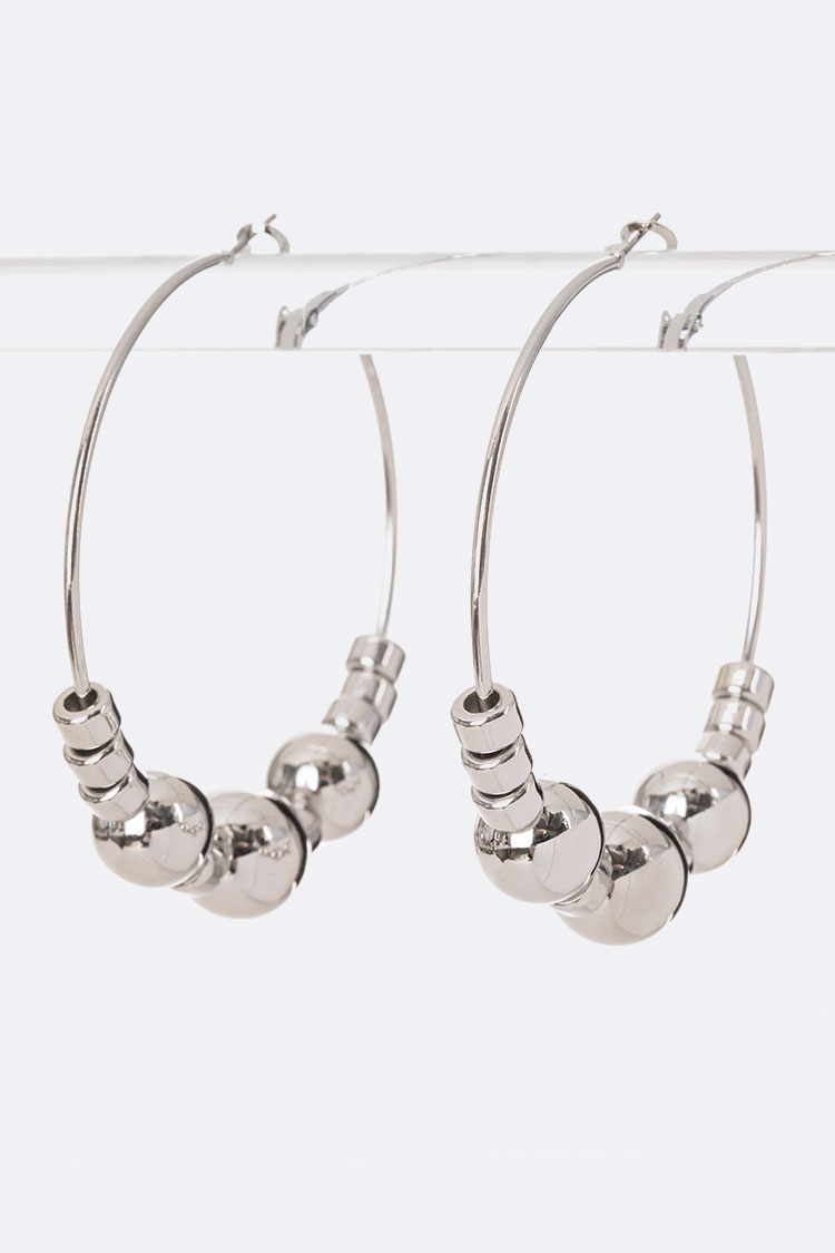 Beads Slider Iconic Hoops