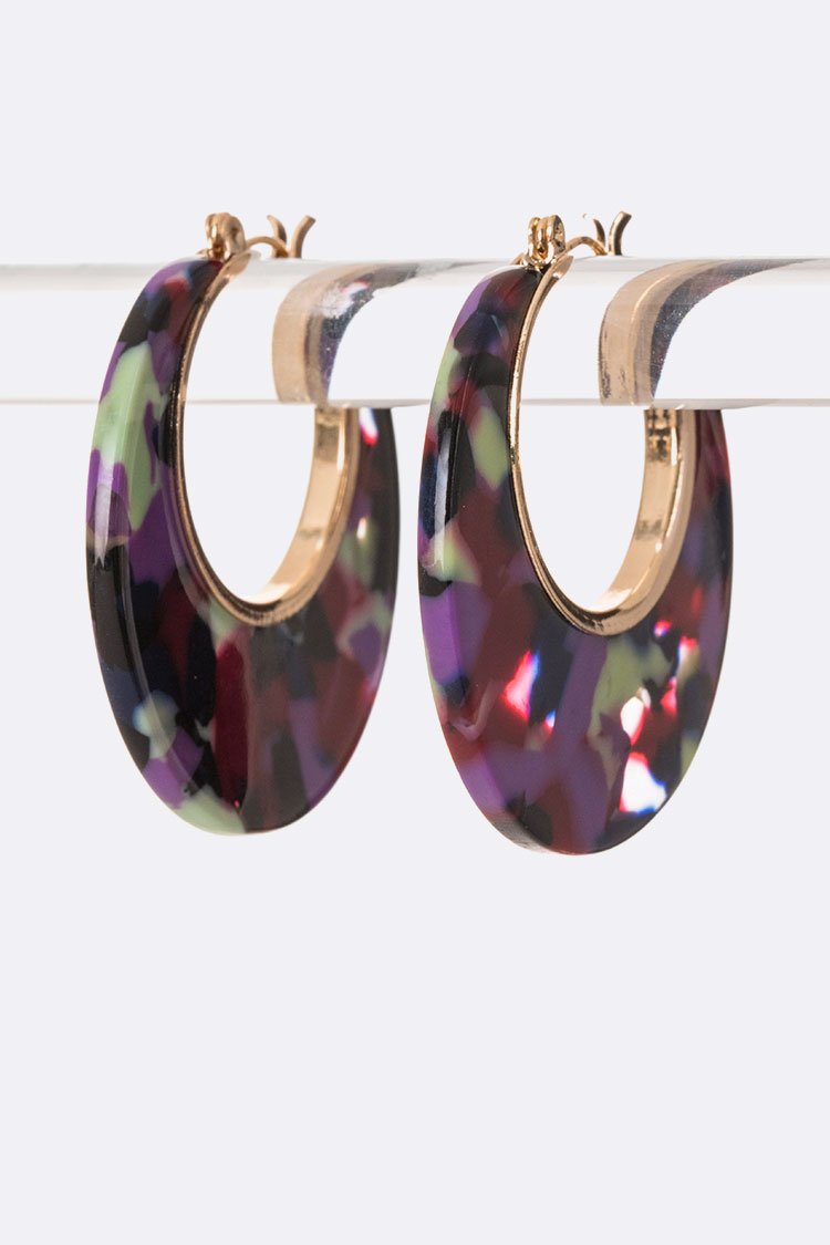 Celluloid Iconic Hoop Earrings