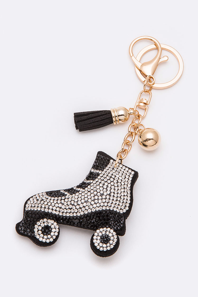 Roller Skate Crystal Key Chain