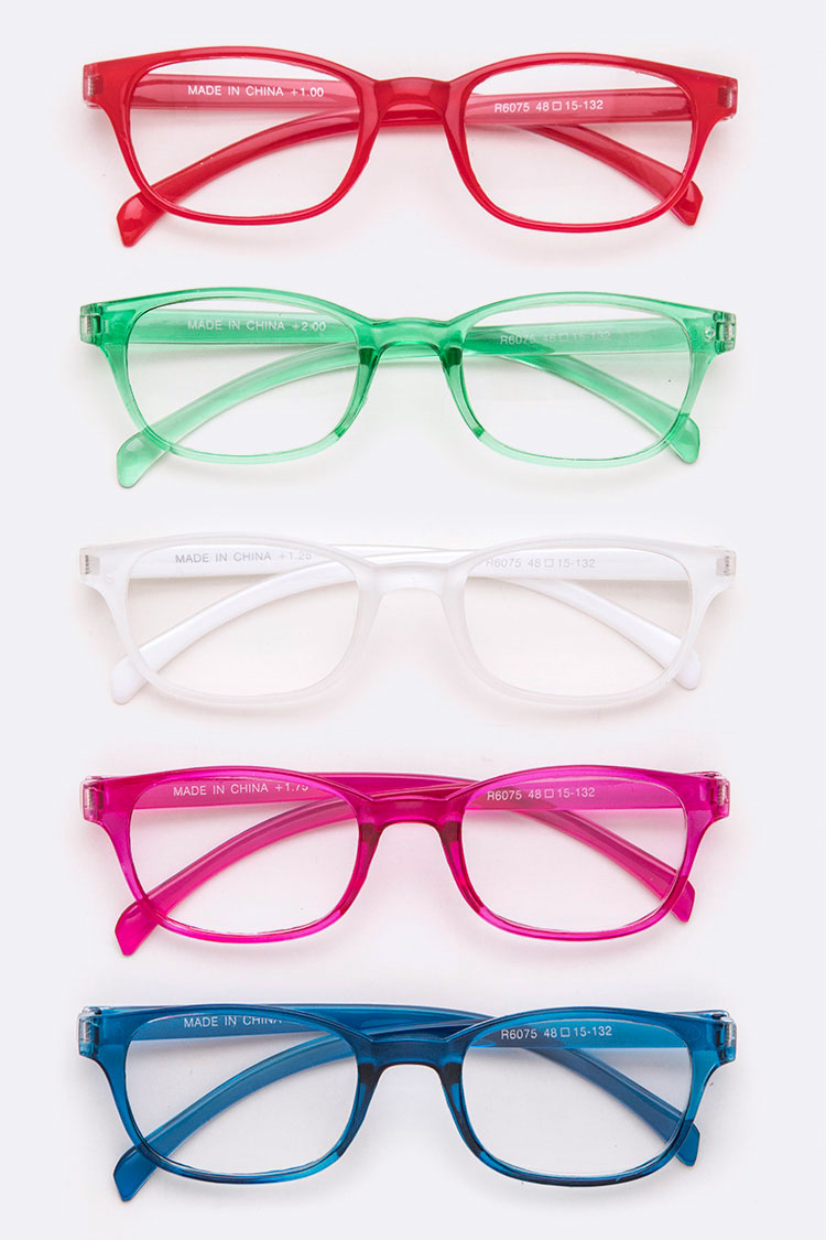 Colored Frame Reading Glasses