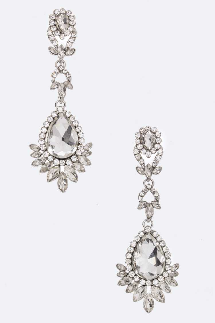 Mix Crystal Drop Earrings