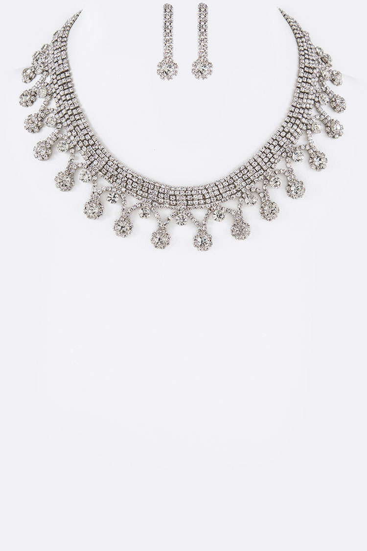 Iconic Crystal Collar Necklace Set