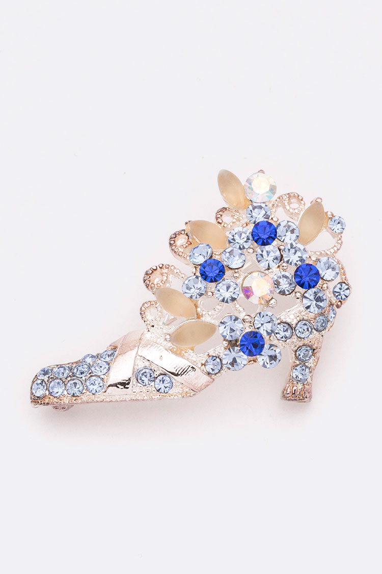 Crystal Shoe Iconic Brooch