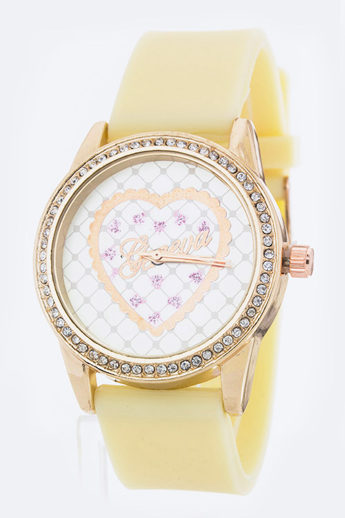 Heart Crystal Jelly Watch