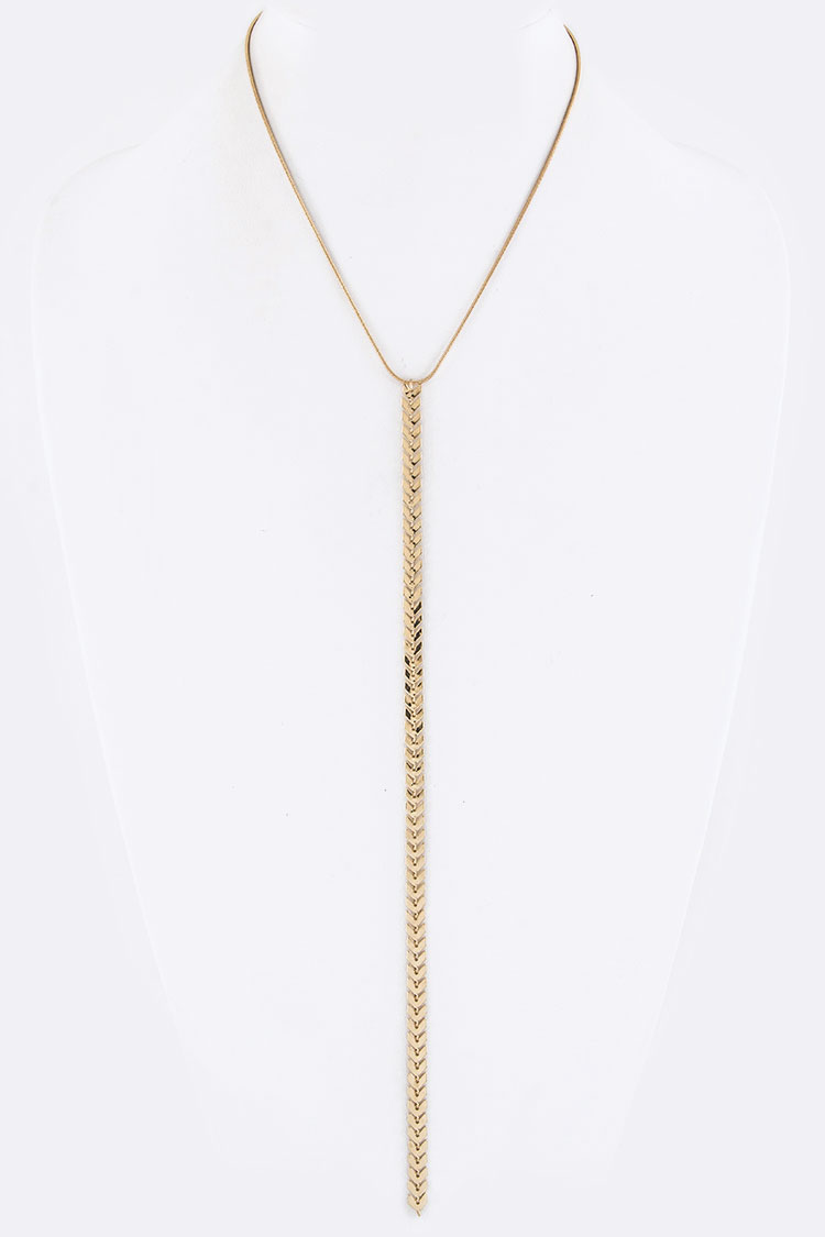 Chevron Chain Drop Necklace