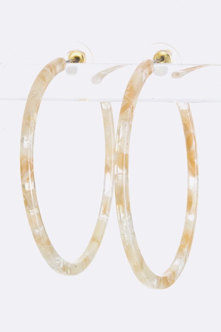 Mix Color Celluloid Hoops