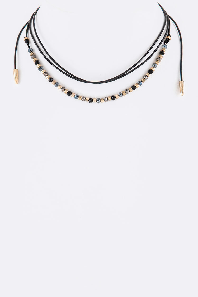 Mix Beads Choker Necklace
