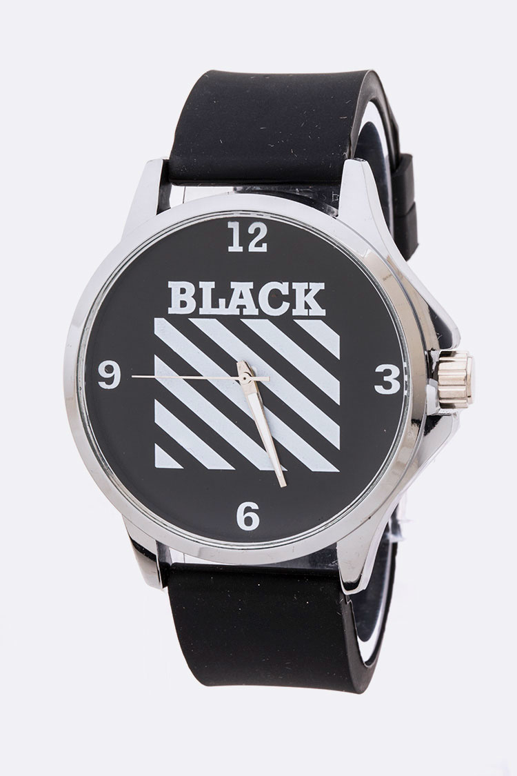 BLACK Iconic Silicon Fashion Watch