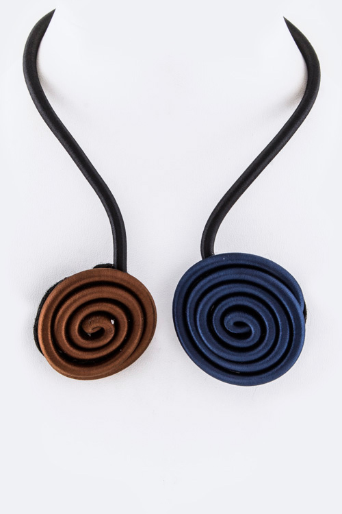 Vortex Tipped Flex Wire Necklace