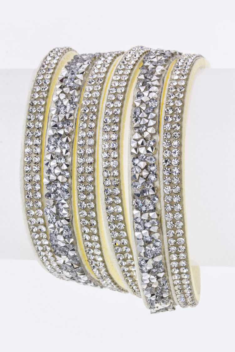 Crystal Wrapped Layer Bracelet