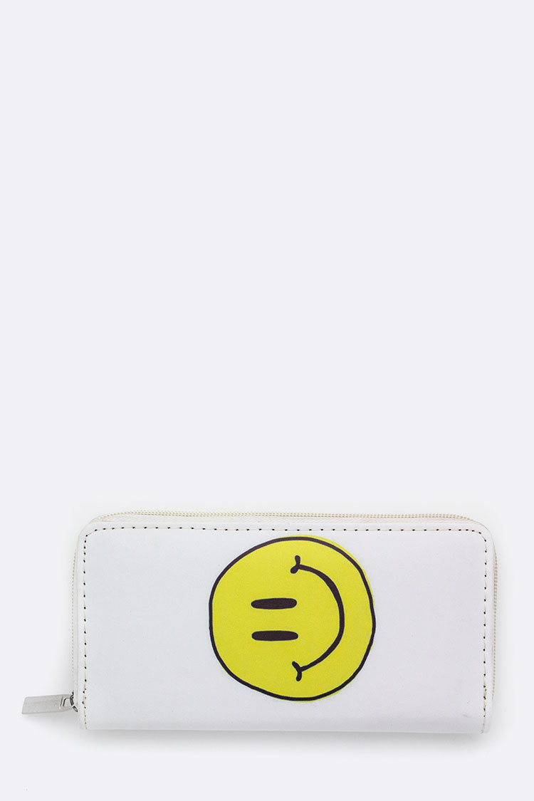 Smiley Face Printed Wallet