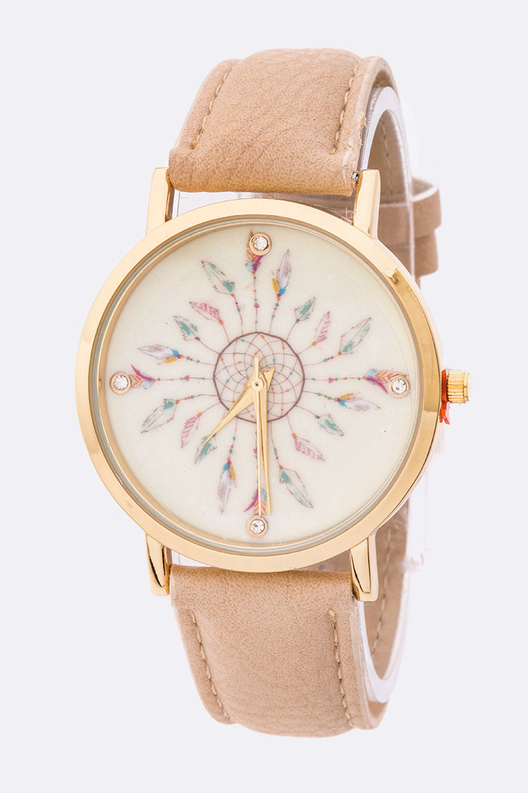 Dream Catcher Print Fashion Watch