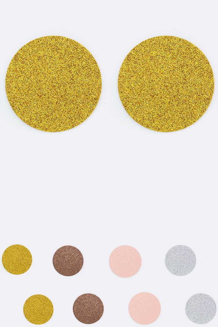 Glitter Round Nipple Cover Set