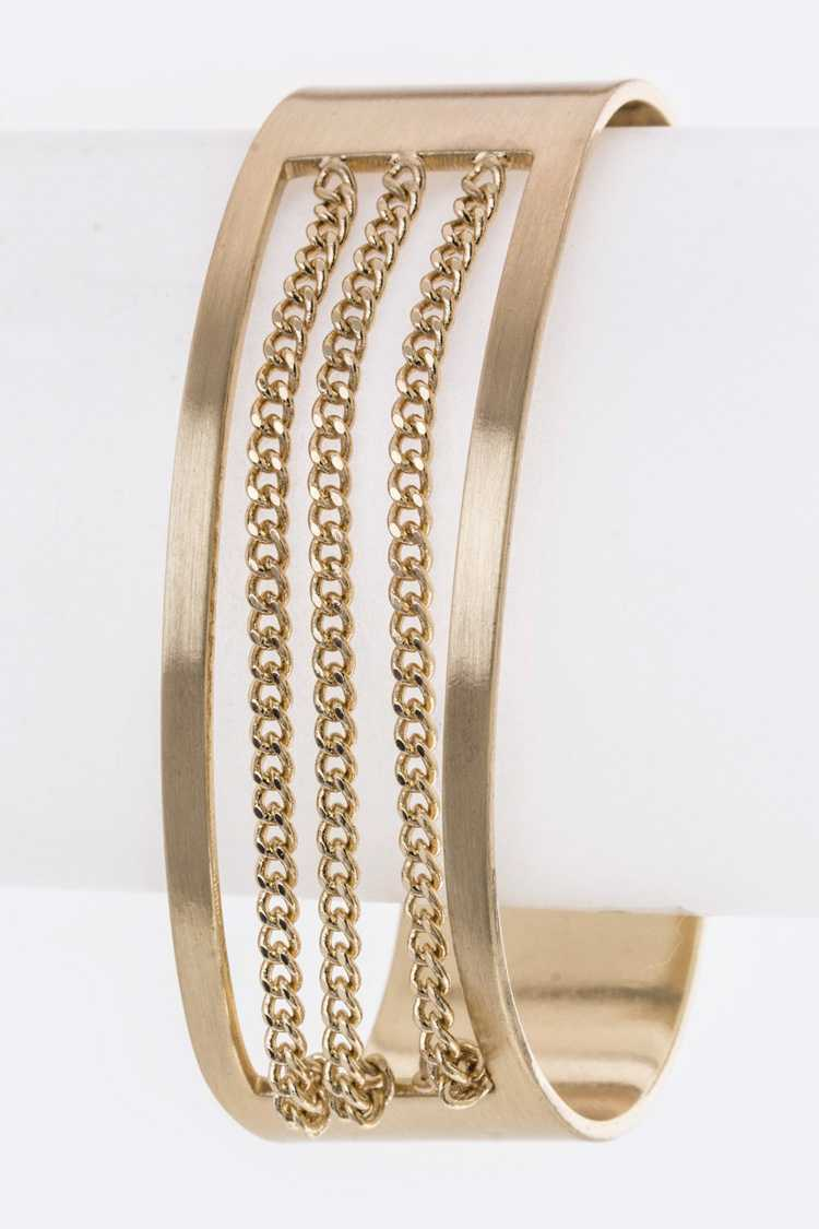 Chain Layered Metal Bangle