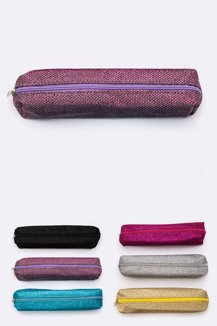 Metallic Pencil Makeup Case