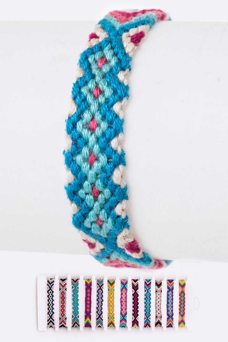 Weaved Pattern String Bracelet Set