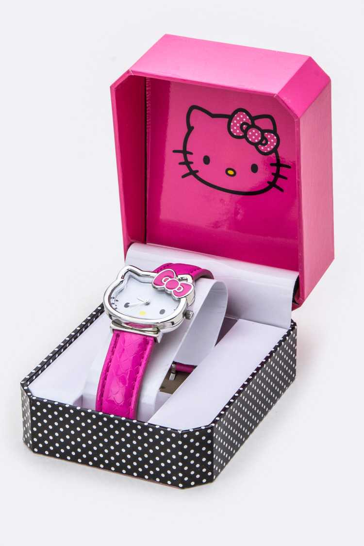 Embossed Strap HELLO KITTY Watch