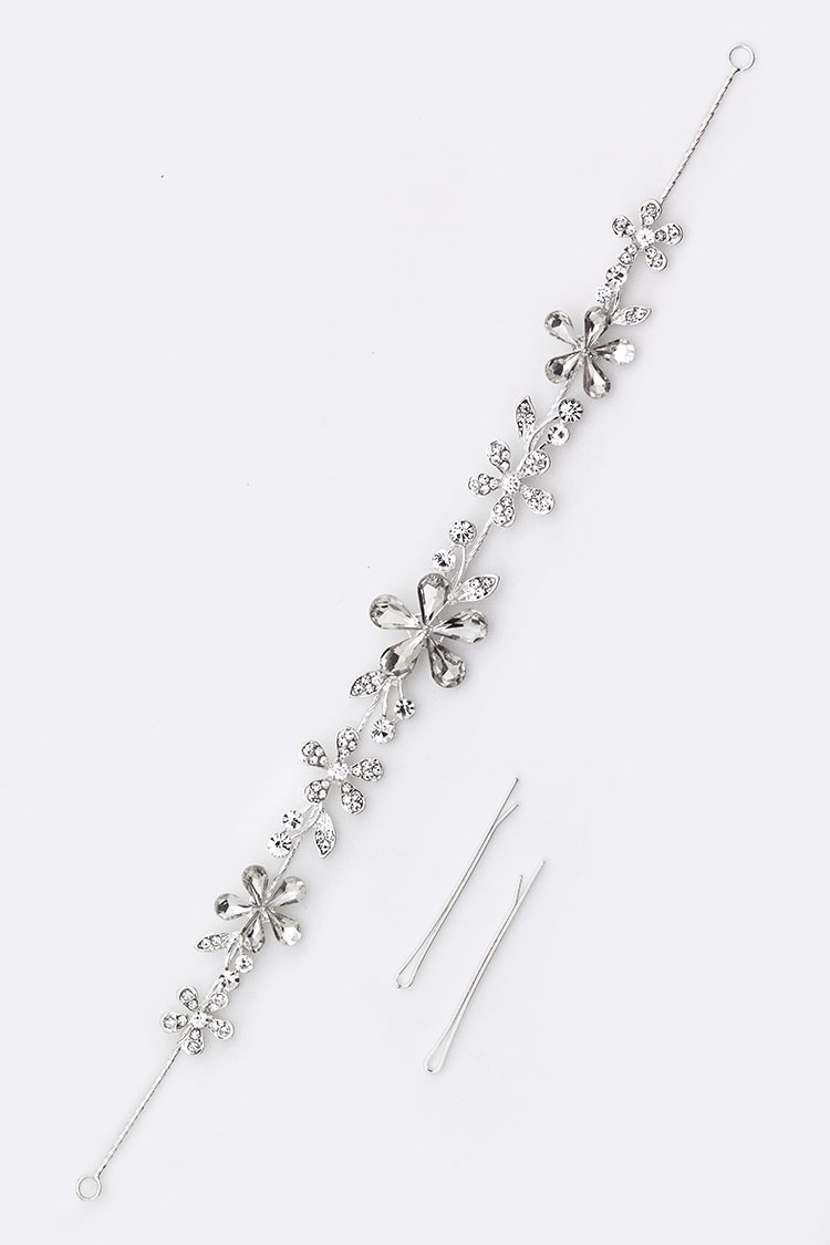 Crystal Flower Bridal Hair Pin