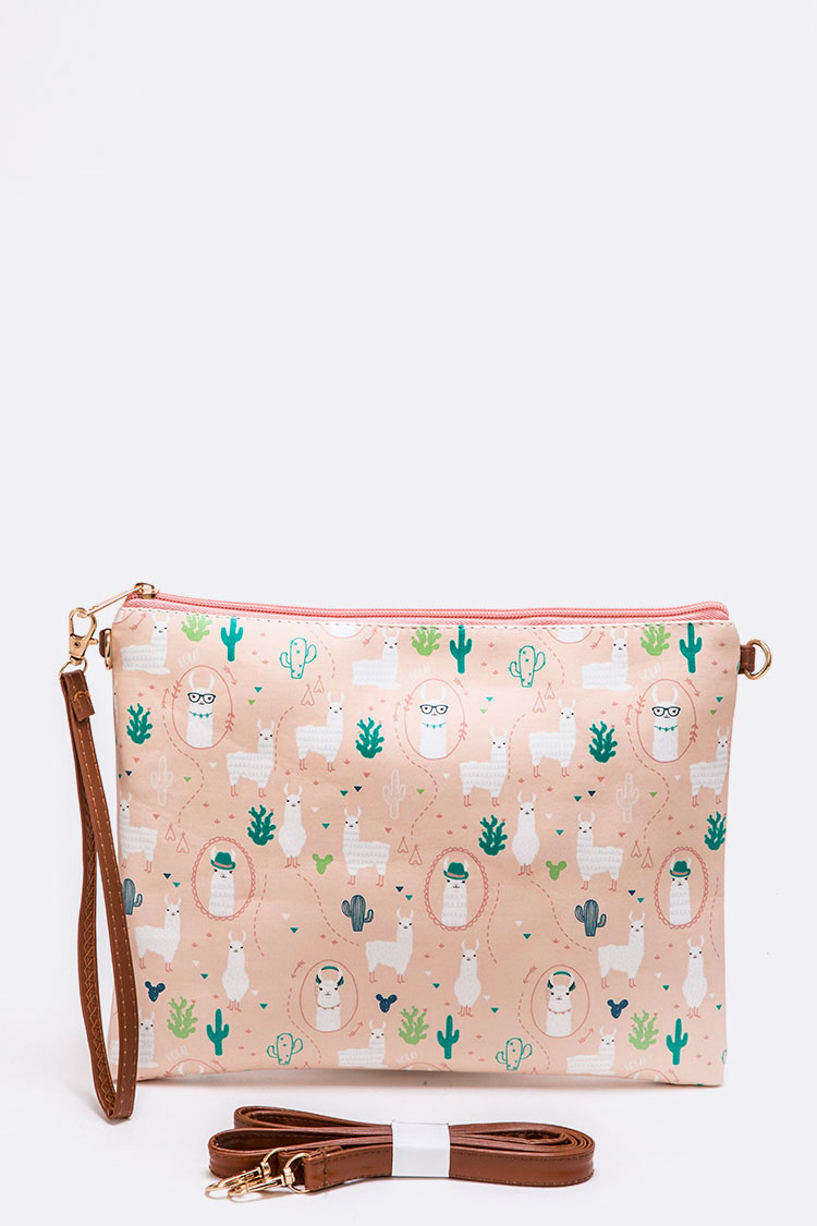 Llama Print Convertible Swing Bag