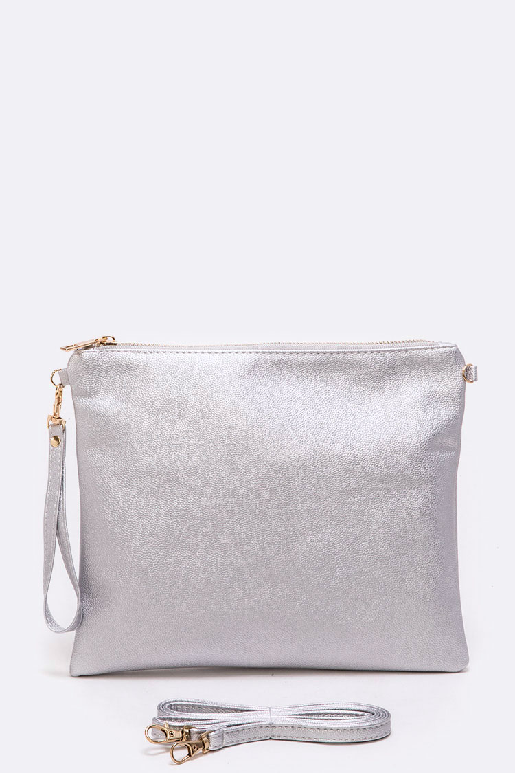 Solid Grey Convertible Swing Bag
