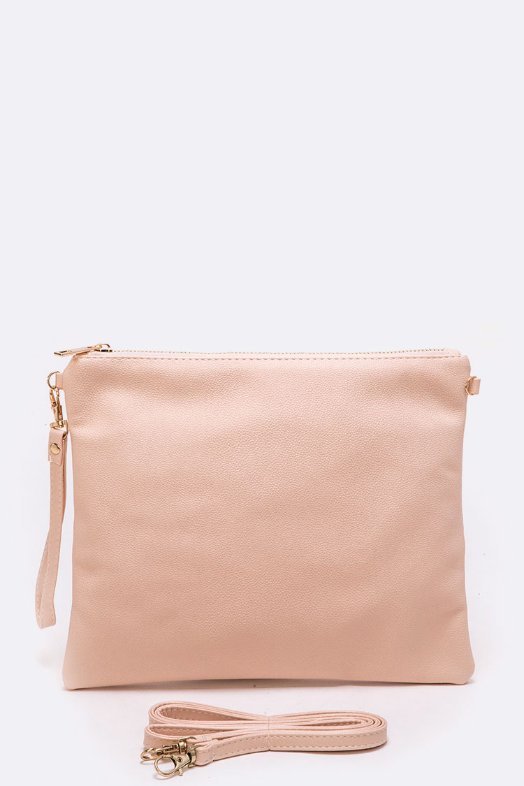 Solid Peach Convertible Swing Bag