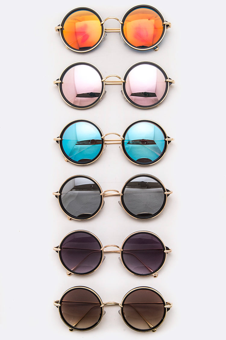 Iconic Mix Tint Round Sunglasses
