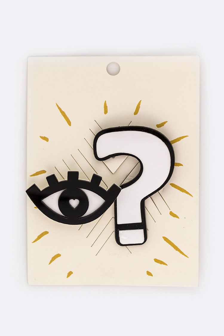 Eye & Question Mark Pins Set