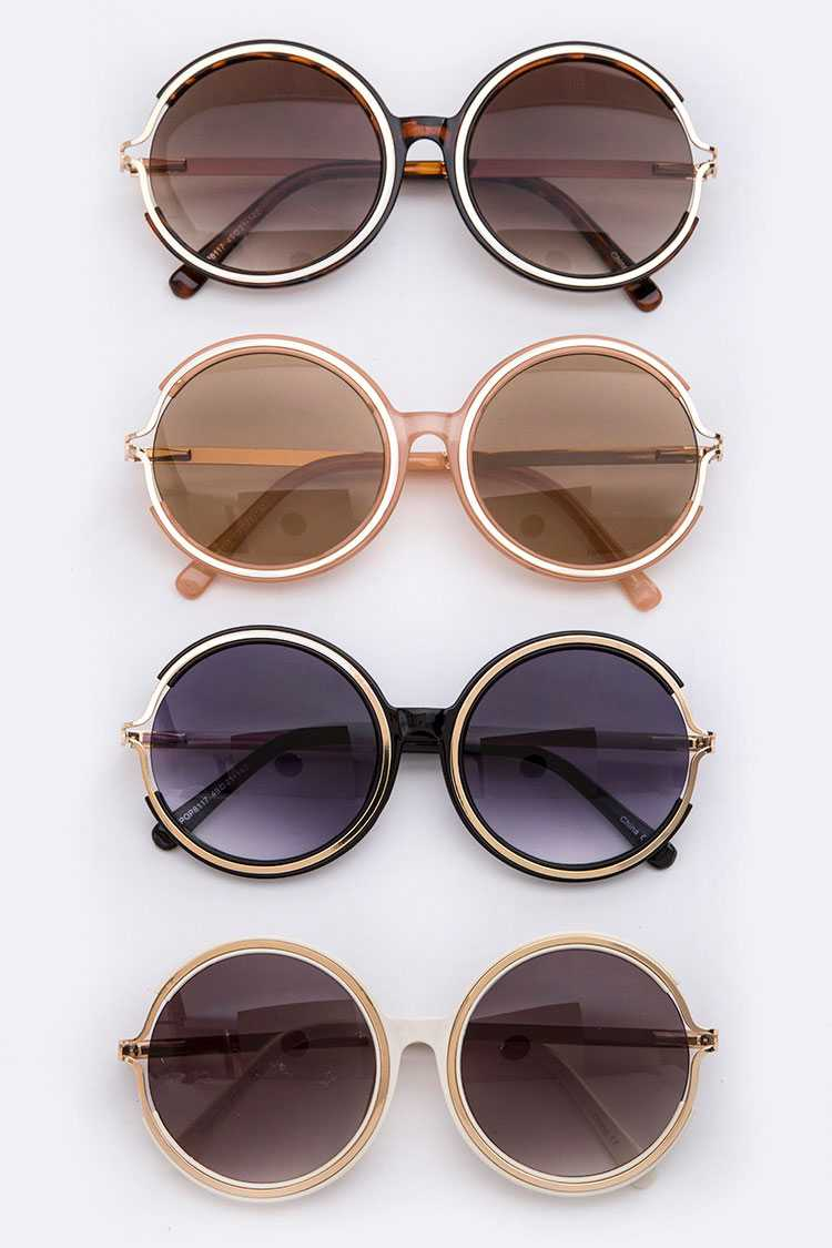 Oversize Round Framed Sunglasses