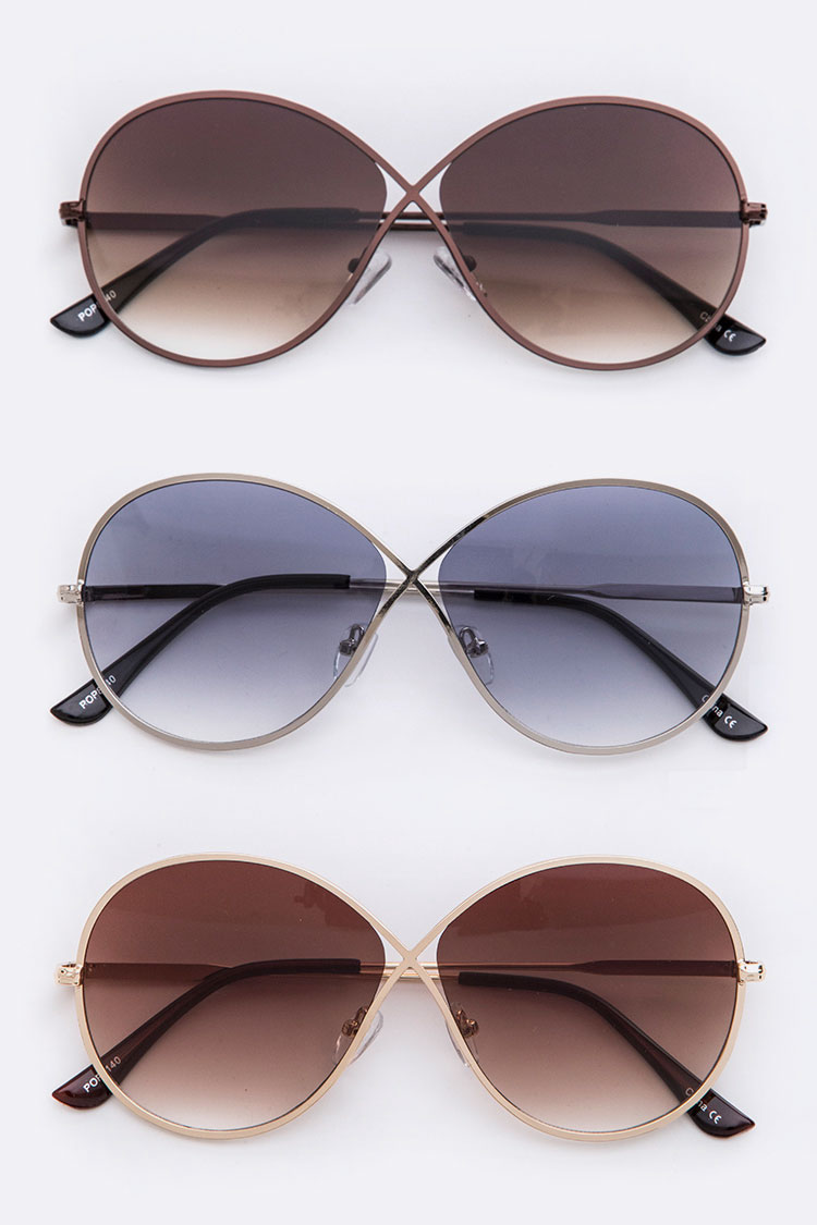 Gradient Butterfly Designer Sunglasses