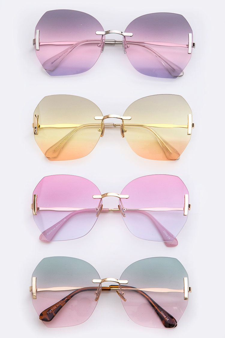 Mix Tone Oversized Sunglasses