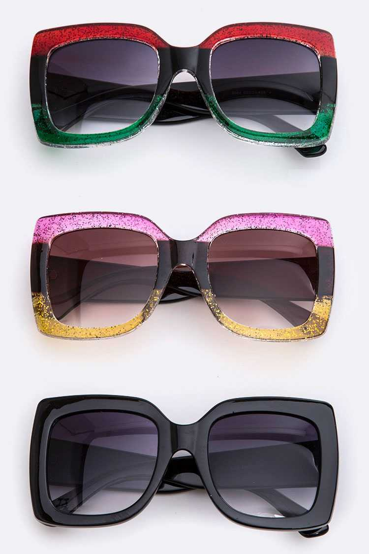 Disco Queen Oversize Square Sunglasses