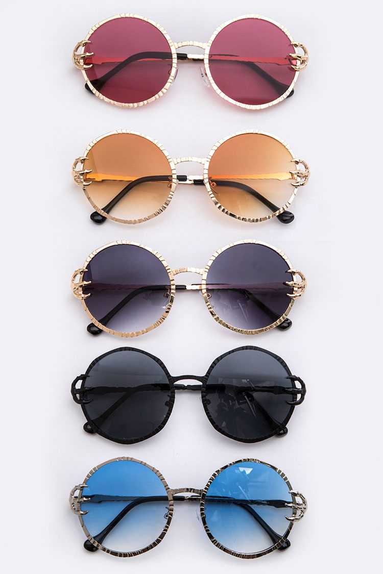Gradient Iconic Round Sunglasses